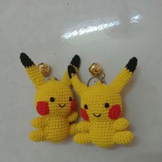 Móc khóa Pikachu bằng len