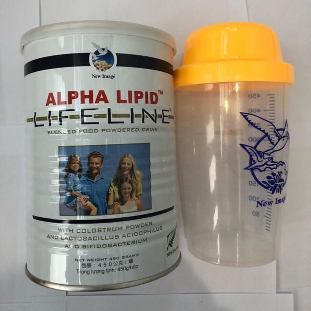Combo sữa alphalipit và bình lắc