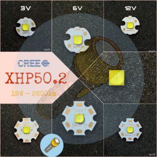 [A0304][Chính hãng] Led Cree XHP50B XHP50.2 XHP50 v2 3V – 6V – 12V 18W 2654lm cho đèn pin siêu sáng