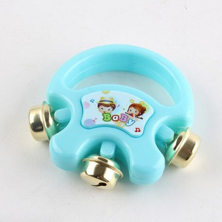 Baby Kids Hand Shaking Bells Musical Rattle Handbell Educational Toys Instrument