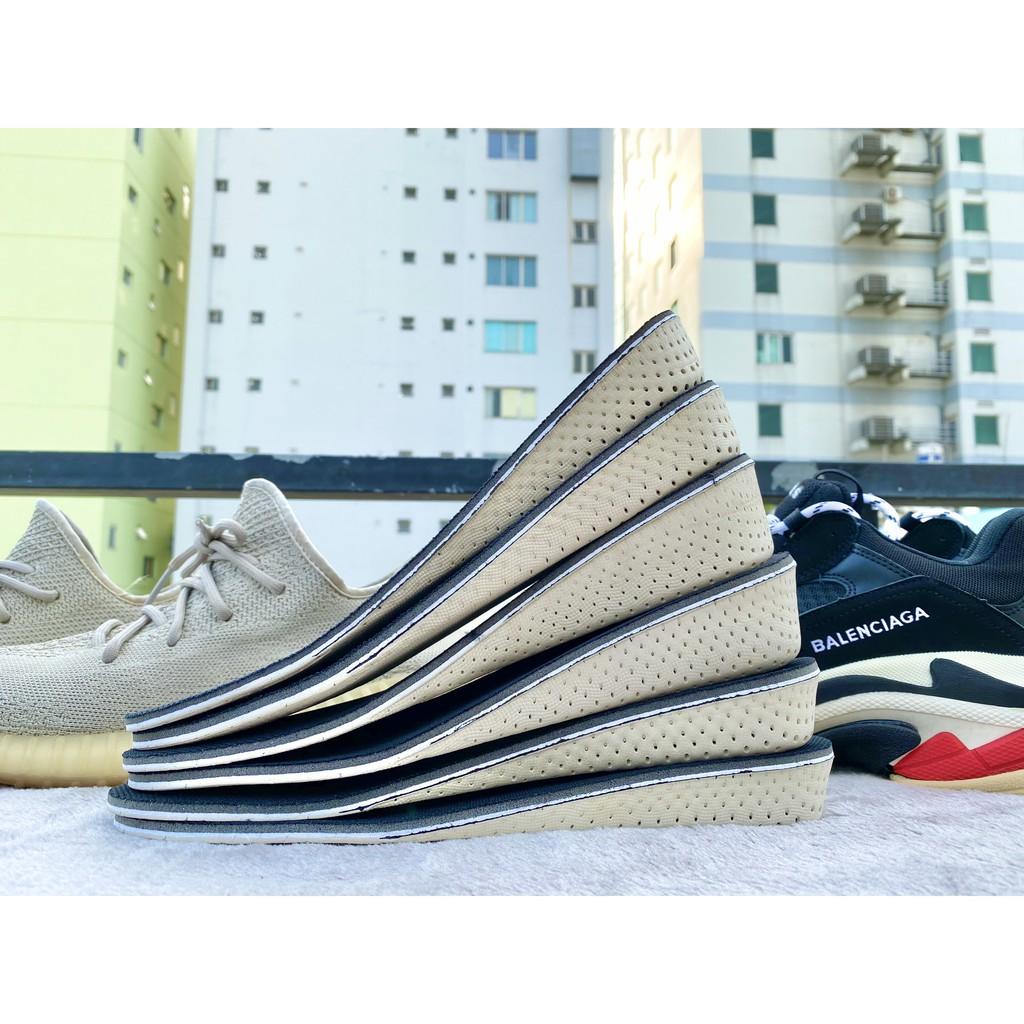 Lót giày cao su tăng chiều cao 1.5cm, 2.5cm và 3.5cm - Độn đế thoáng khí loại nguyên bàn