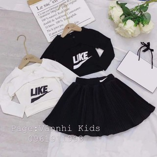 sét váy cho bé gái bui huê
