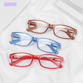 CLEVER Unisex Presbyopic Glasses Vision Care PC Frames Reading Glasses Portable High-definition Ultralight +1.00~+4.00 Eyeglasses/Multicolor