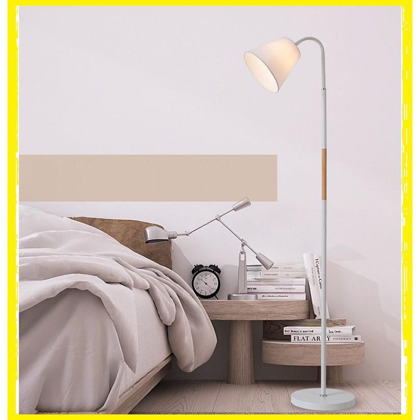 Đèn cây đứng DC0206 trang trí nội thất phòng khách - Kèm bóng LED bảo vệ thị lực tốt