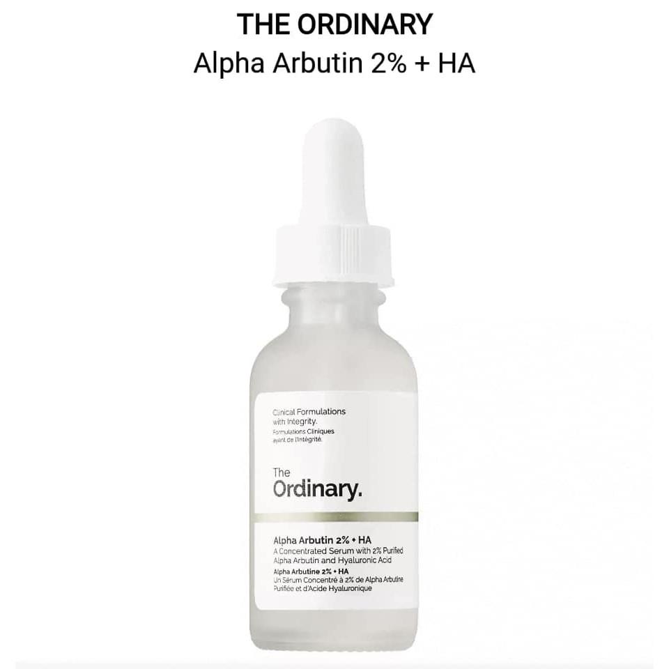 Serum dưỡng trắng da mờ thâm Alpha Arbutin 2% + HA The Ordinary 30ml
