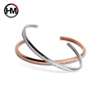 Lắc tay nữ Hannah Martin thời trang và sang trọng - model HM-SZA có 2 màu vàng bạc - thumbnail