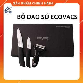 Bộ dao sứ chính hãng Ecovacs, bộ hai dao và một gọt vỏ ecovacs