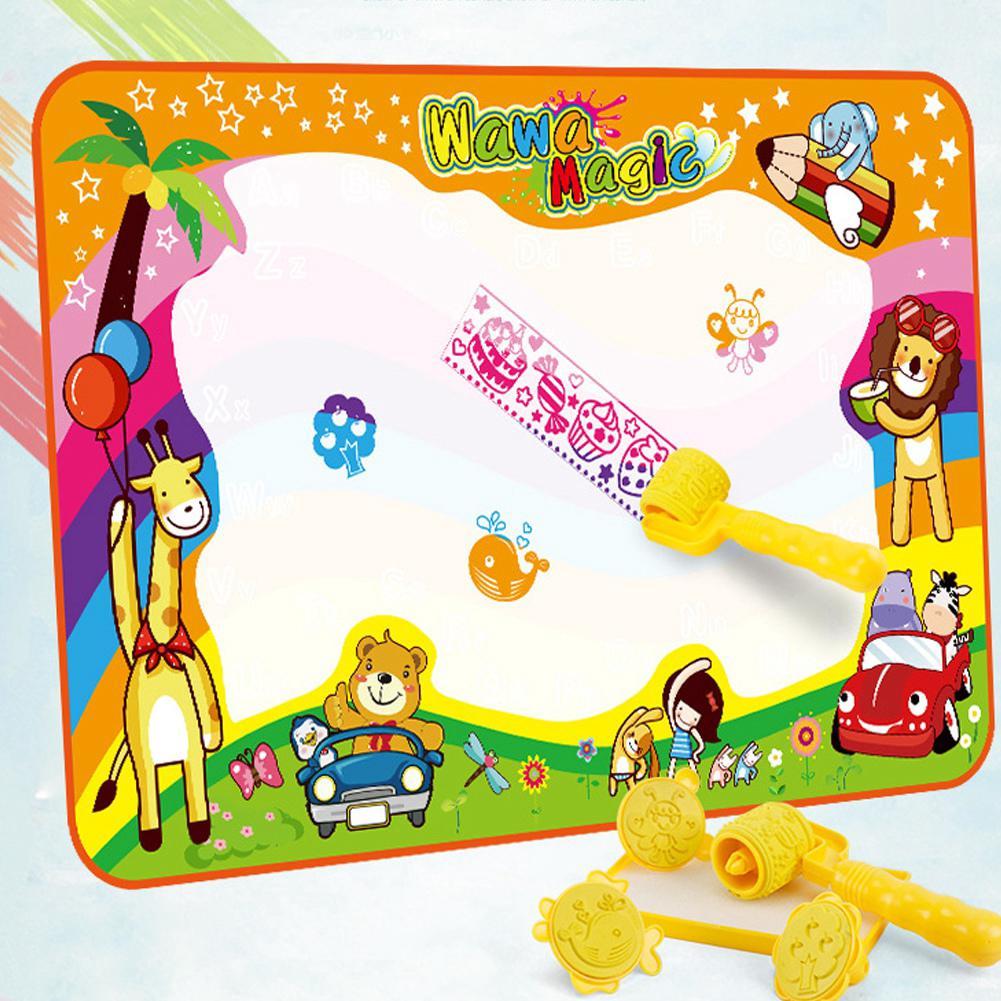 Havasshop Doodle Mat Magic Water Drawing Mat Color Doodle Drawing Mat Children Painting educational toys with magic pens