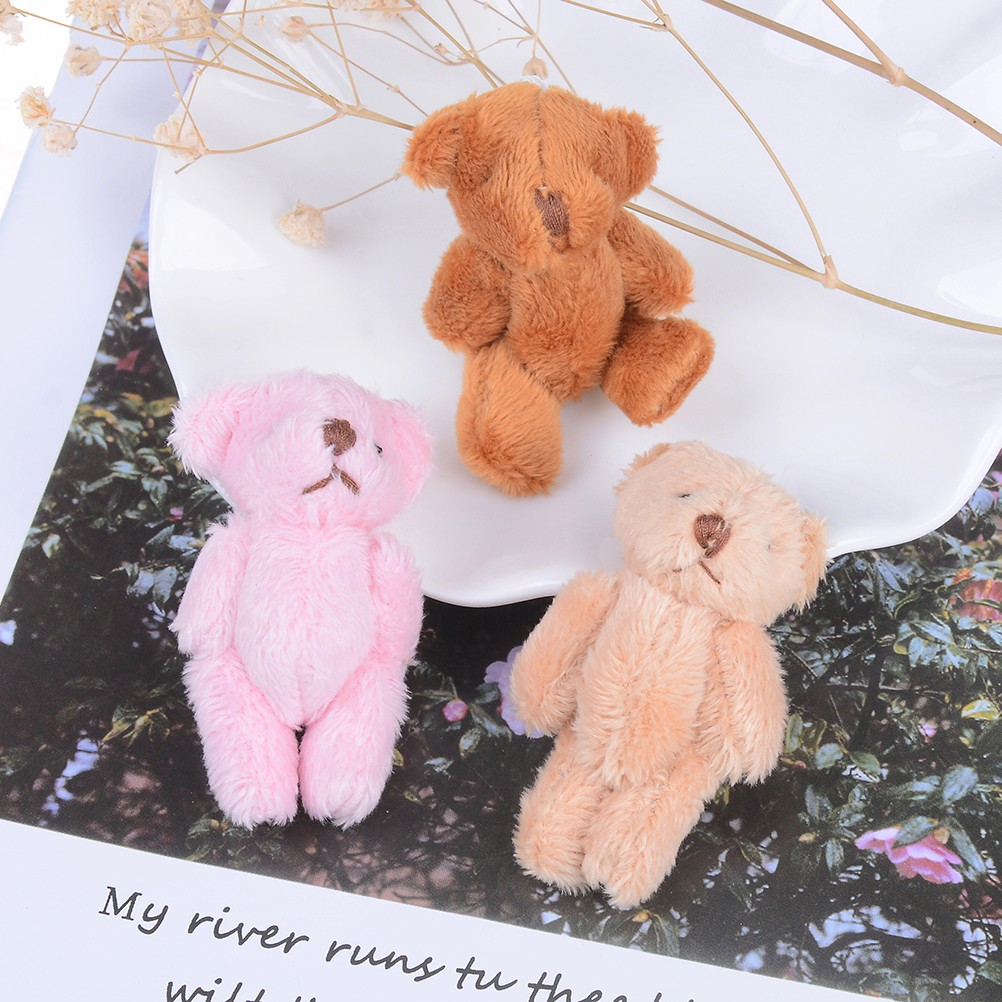 Baω Mini 6 cm fluffy bear plush stuffed baby toy doll for kids candy box gifts toy ωby