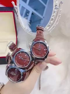 Đồng hồ nữ Tpofhs mặt tròn khoá xịn dây da bền, mặt chống xước , máy chống nước , kiểu dáng thời trang