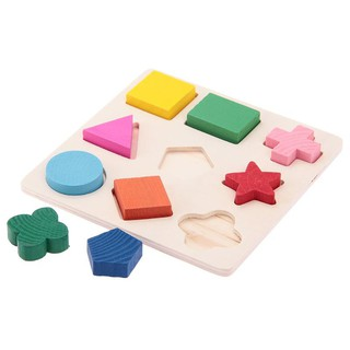 9PCS Puzzles Jigsaw Wooden Kids Preschool Educational Puzzle Toy Fun Game Child