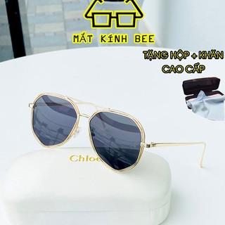 Mắt kính nam thời trang gọng kim loại chống chói, chống tia UV BEE205 tặng hộp + khăn