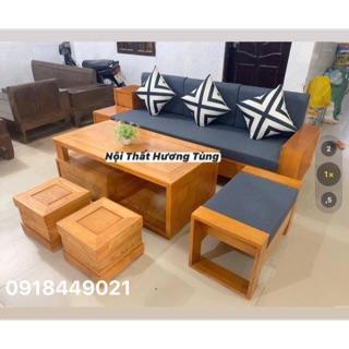 Sofa phòng khách - nội thất phòng khách Gỗ Sồi (giả gỗ Hương) 2m3 (không đệm)