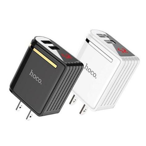 Cốc Sạc Nhanh Hoco C39  2 USB Chính Hãng Màn Hình LCD Hiển Thị