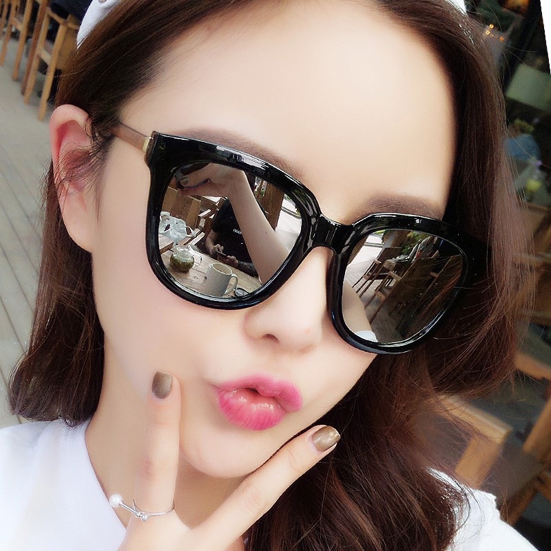 ☇Sunglasses female han edition of the gm new star web celebrity style ins street snap to restore ancient ways round uv