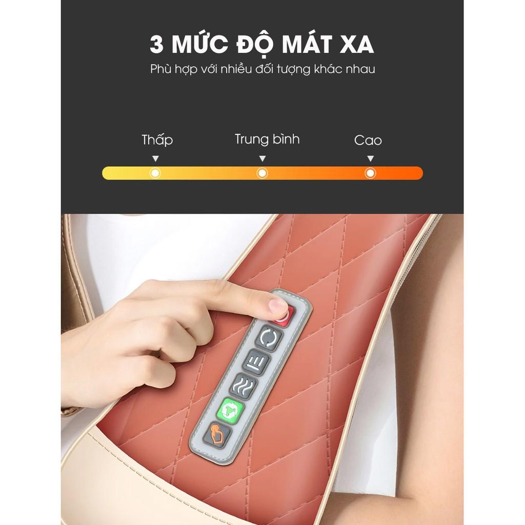 Đai Massage Thư Giãn Đa Năng 16 Đầu Massage Cho Cổ Vai Gáy -Tặng kèm máy massage mini cầm tay [FREE 10 KHẨU TRANG]