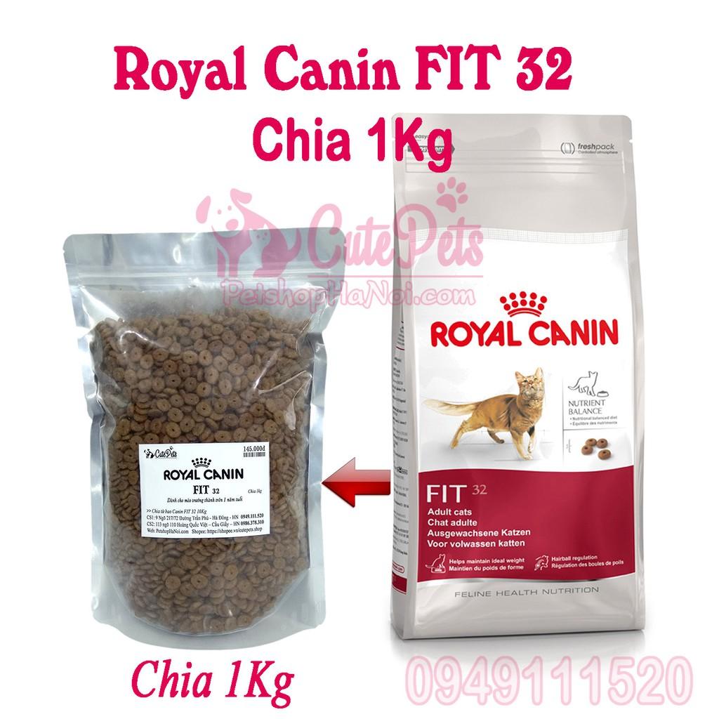 Thức ăn cho mèo trưởng thành Royal Canin Fit 32 (Chia 1Kg) - CutePets Phụ kiện chó mèo Pet shop Hà N