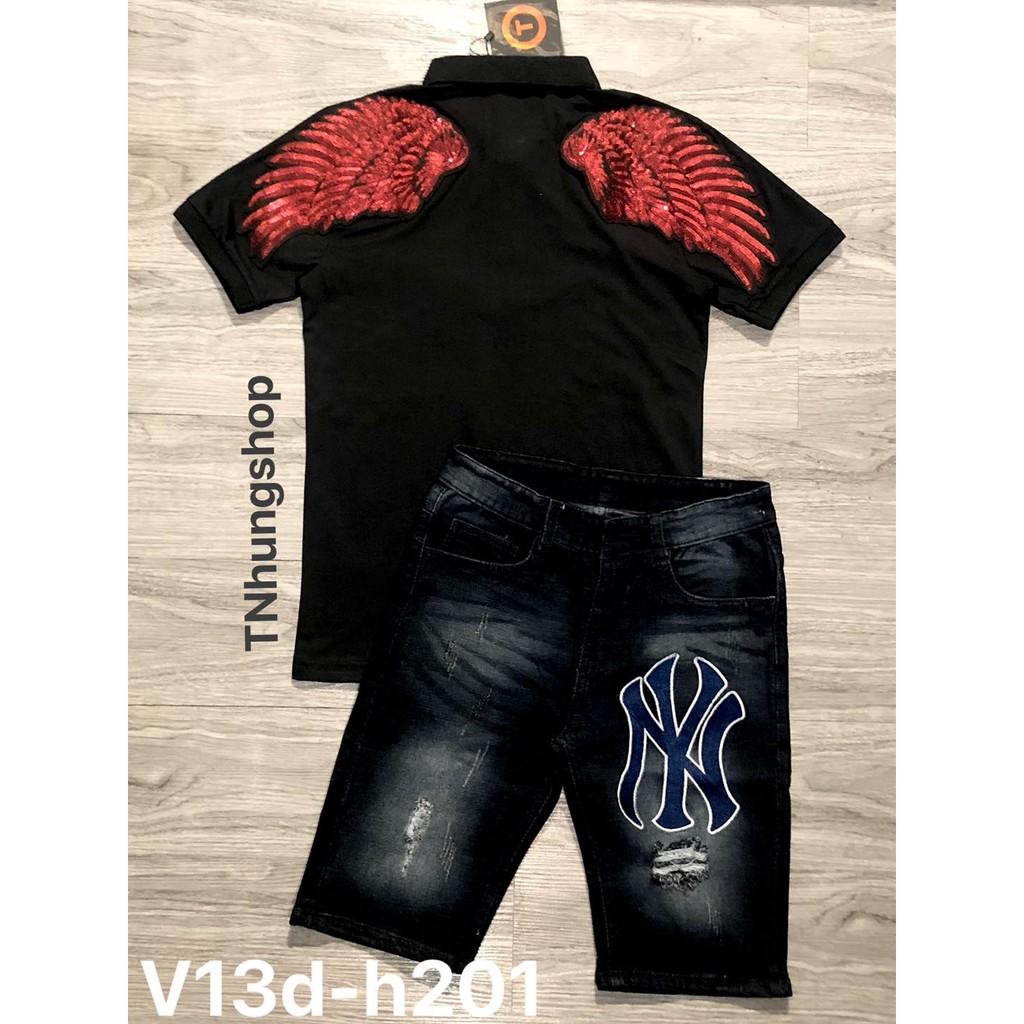 Sỉ áo thun áo phông nam polo ngắn tay có cổ giảm giá Mã V13 tnhung