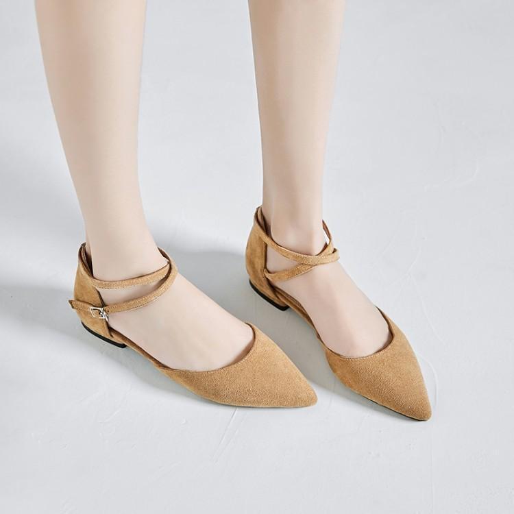 เป่าโถวรองเท้าแตะหญิงฤดูร้อนนักเรียนป่าใหม่ขนาดเล็กสดแบนรองเท้าหนังนิ่มผู้หญิงลำ