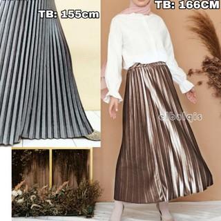 Chân Váy Nhung Dài Xếp Ly Thời Trang Cho Nữ
