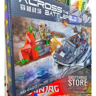 LEGO Lắp Ráp Tàu Chiến Quân Sự XB06017 ( 588 Miếng )