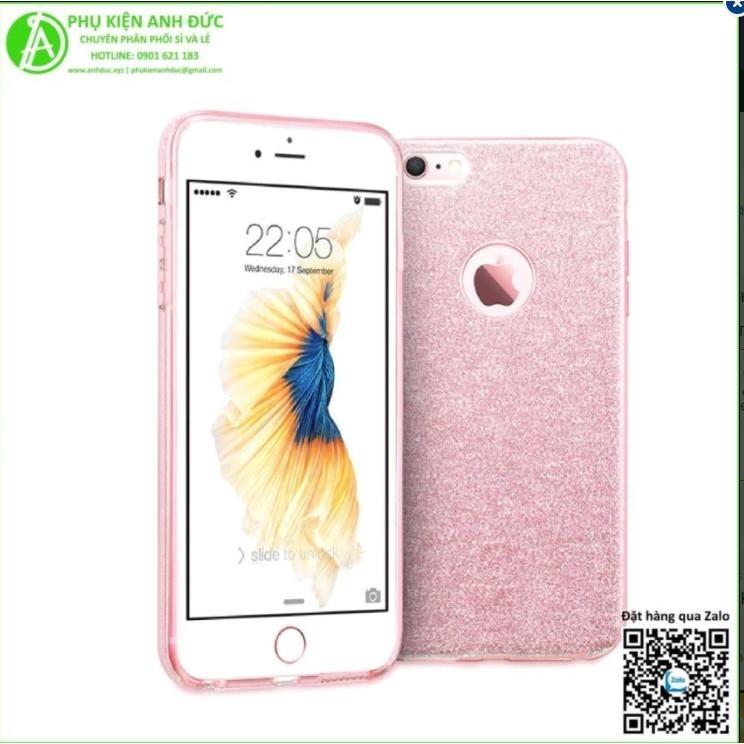 Ốp Dẻo Kim Tuyến Cao Cấp iPhone 7Plus Hồng