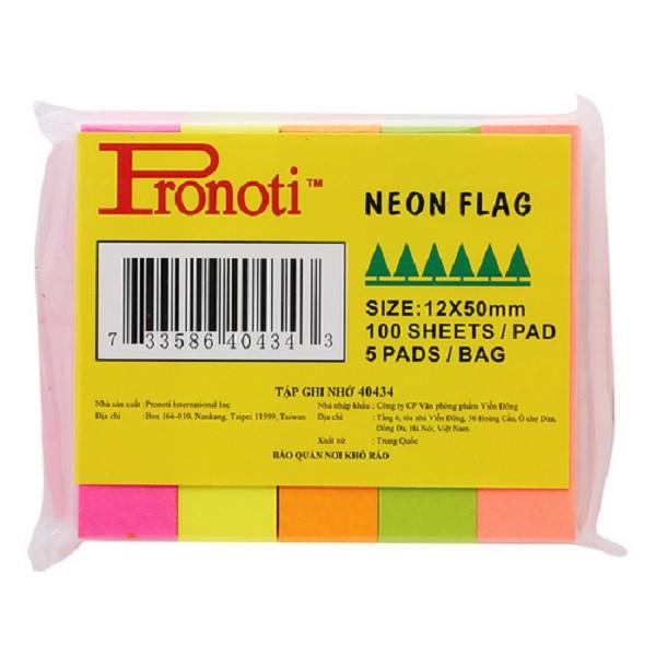 Giấy note 5 màu Pronoti Neon Flag 40434 12 x 50mm - 2659689 , 443493620 , 322_443493620 , 10000 , Giay-note-5-mau-Pronoti-Neon-Flag-40434-12-x-50mm-322_443493620 , shopee.vn , Giấy note 5 màu Pronoti Neon Flag 40434 12 x 50mm