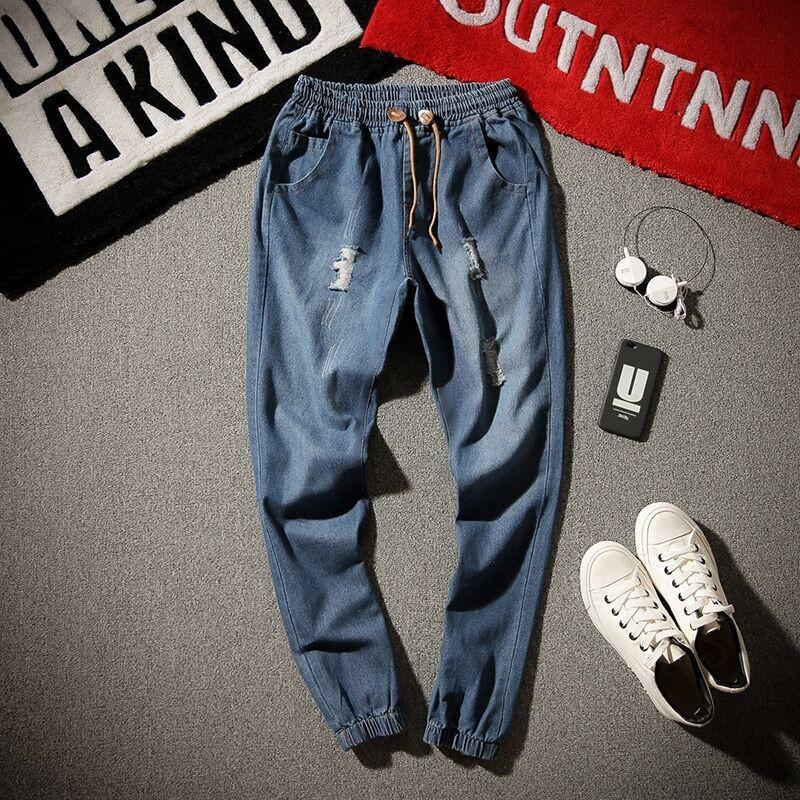 Quần Jeans Nam Rách Gối Thời Trang