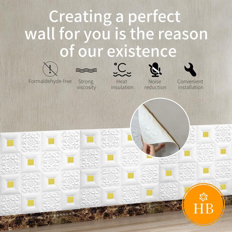 Miếng xốp dán tường giả gạch 3D Giấy dán tường xốp chống thấm nước chống ẩm hiệu ứng 3D trang trí nhà cửa