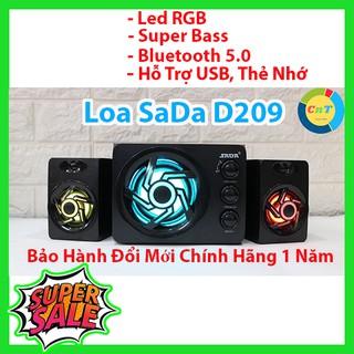 [Mã ELFLASH2 hoàn 10K xu đơn 20K] Loa Máy Tính – SaDa D-209 Bass và RGB – Vô Địch Trong Tầm giá