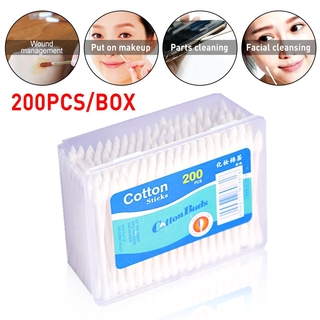 200Pcs Hygienic Widely Used Double Pointed Disposable Cotton Swabs Stick