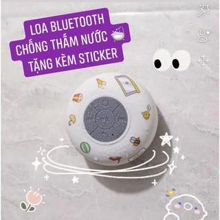 [ Sẵn ] Loa Bluetooth Không Dây❤️Chống Thấm Nước❤Tiện Dụng Cho Nhà Tắm  Kèm Bộ Sticker Dễ Thương