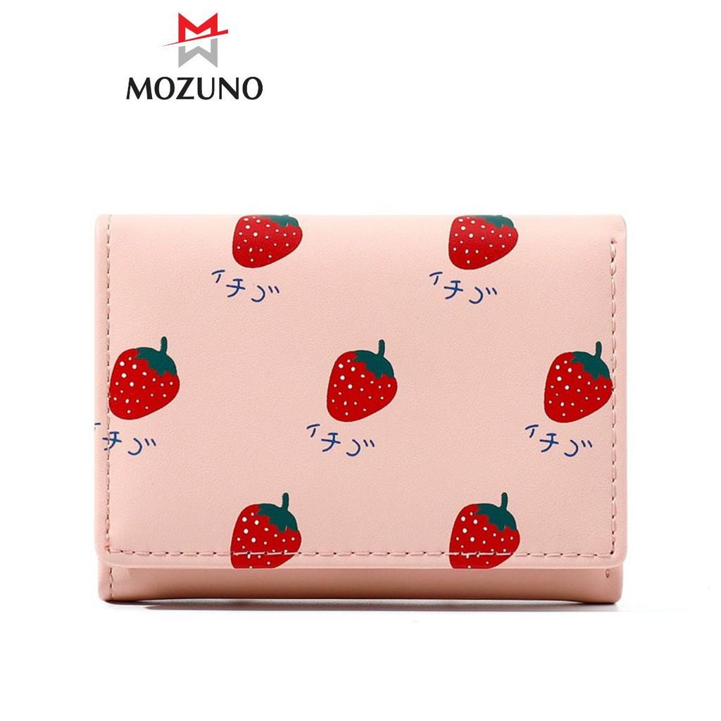 Ví Nữ Ngắn Mini Đẹp Chính Hãng TAOMICMIC Hoạ Tiết Hình Trái Cây Nhiều Ngăn Đựng Tiền Siêu Hót TM06 - Mozuno