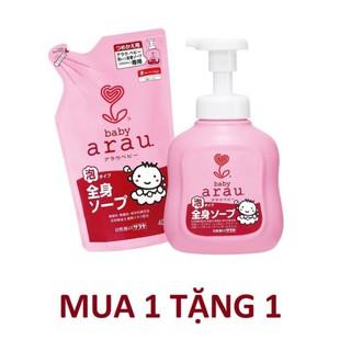 [MUA 1 TẶNG 1] Sữa tắm Arau Baby bình 450ml TẶNG 1 sữa tắm Arau Baby 450 400ml