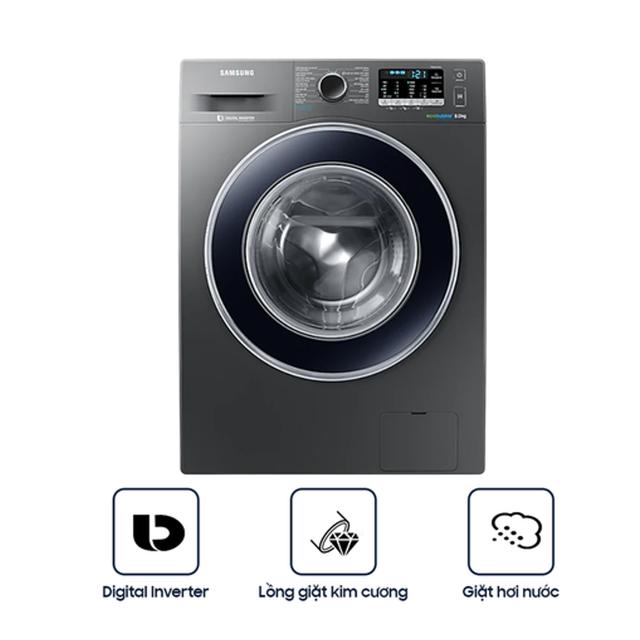 Miễn phí công lắp đặt- Máy Giặt Cửa Trước Samsung Inverter WW80J54E0BX/SV (8kg)