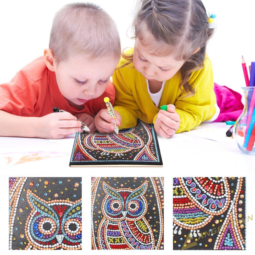 AN DIY Owl Special Shaped Diamond Painting 50 Pages A5 Notebook Notepad Gifts