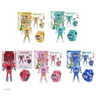 Đồng Hồ Đeo Tay Điện Tử Hình Robot Hoạt Hình Sáng Tạo Cho Bé
