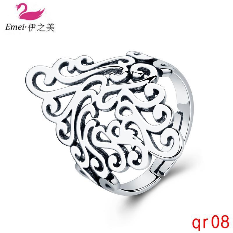 แฟชั่นแหวนมงกุฎแหวนเปิดบุคลิกภาพที่สามารถปรับได้