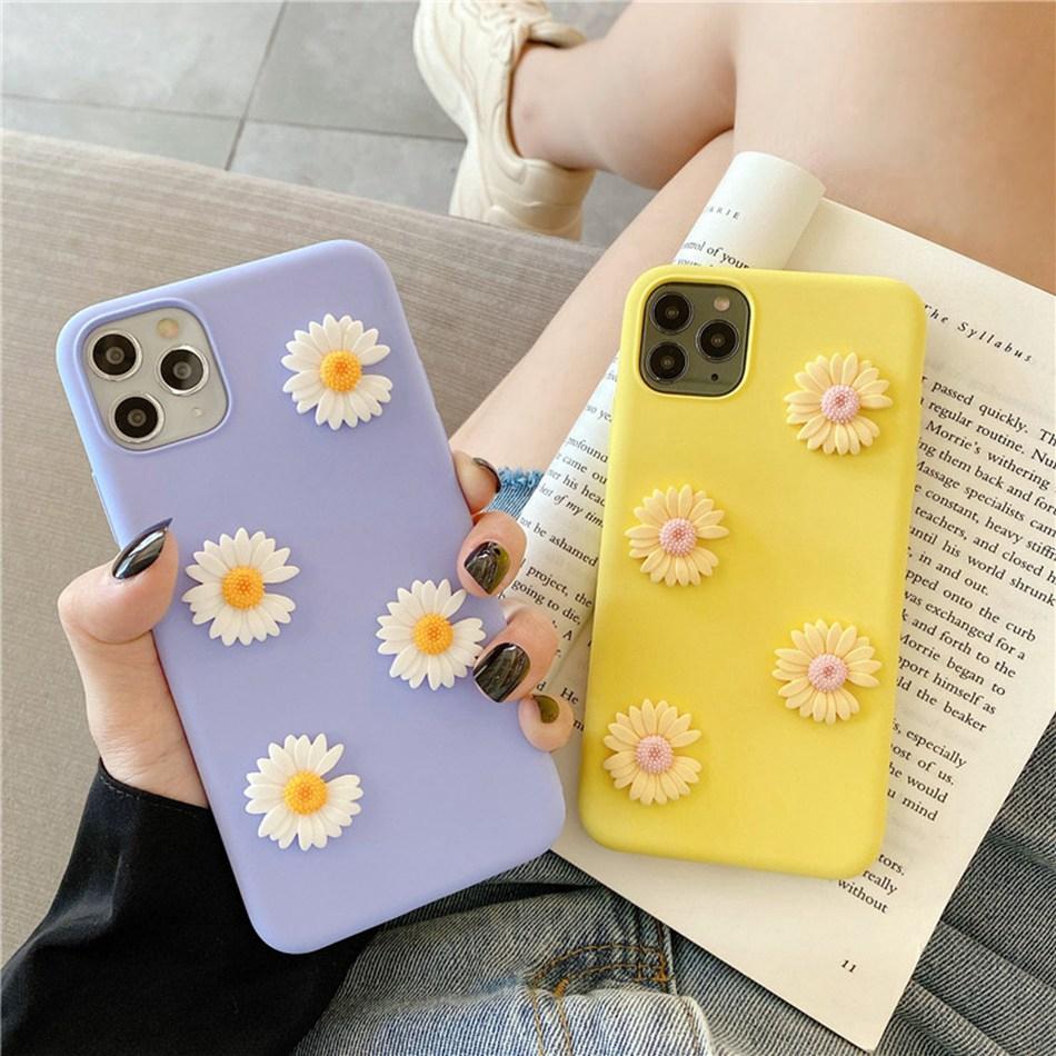 Ốp Điện Thoại Hình Hoa Hướng Dương Cho Iphone 11 Xr 11 Pro Xs Max Iphone 7 / 8 / Se 2020 6 Plus