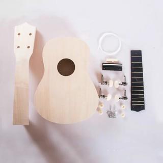 Hawaii Guitar Simple 21″ Ukulele DIY Kit Handwork Painting Children Toy Assembly