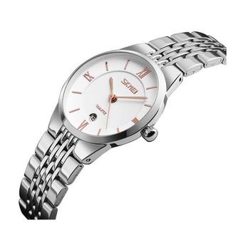 Đồng hồ nữ siêu mỏng dây thép không gỉ Skmei 9139