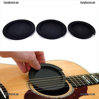 {lazy} Silicone Guitar Feedback Buster Soundhole Cover Sound Buffer Hole Protector{bone}