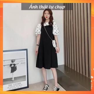 Váy đầm bầu siêu mát mùa hè hàng thiết kế cao cấp chất lụa hàn trẻ trung thumbnail