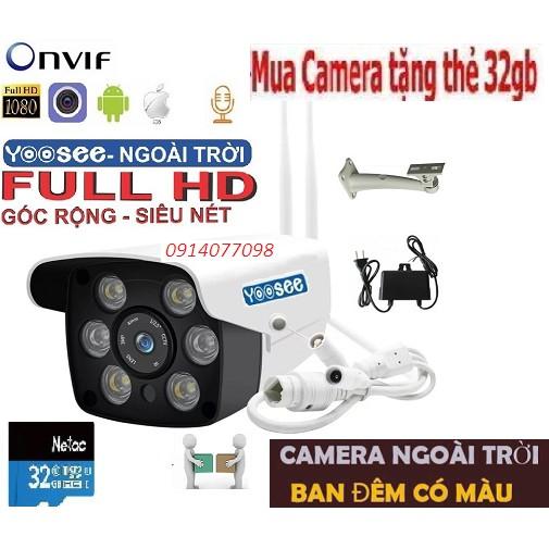 [COMBO] Camera Yoosee ngoài trời HD 1080P + Thẻ Nhớ 32g