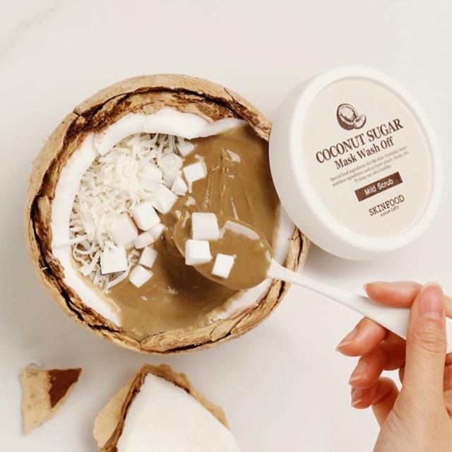 Kết quả hình ảnh cho mặt nạ skinfood coconut sugar