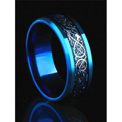 Nhẫn nam đá xanh titan cực đẹp
