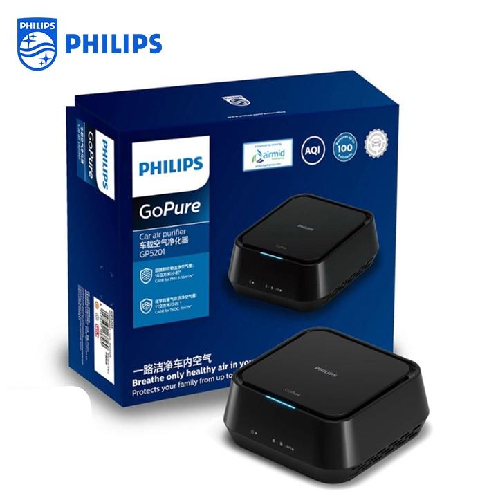 Máy Lọc Không Khí, Khử Mùi Trên Ô Tô Nhãn Hiệu Philips GP5201 Công suất 3 W - Bảo hành 12 tháng