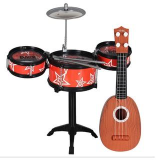 [Ana Kids] Combo bộ 3 trống và đàn ghi ta cho bé FRESHIP 99k