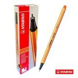 Hộp 10 cây bút lông kim STABILO Point 88 (Cam)
