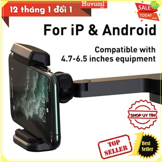 Bộ đế giữ điện thoại gắn lưng ghế trên xe hơi tích hợp sạc không dây Baseus Wireless Charger (15W, 360 độ) - LV868